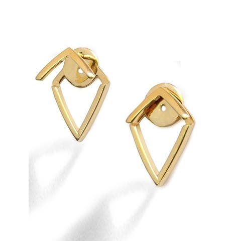 Sonia Hou Trill 2 Way Convertible 18K Gold Over Sterling Silver (Vermeil) Ear Jacket Earrings