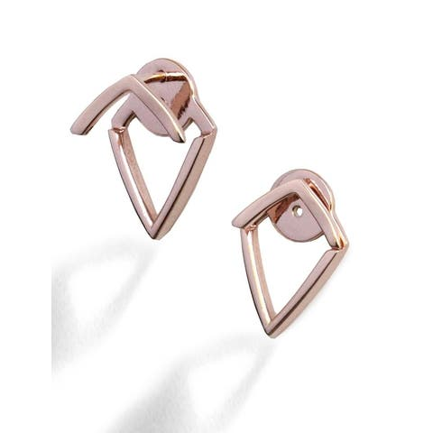 Sonia Hou Trill 2 Way Convertible 18K Rose Gold Over Sterling Silver (Vermeil) Ear Jacket Earrings