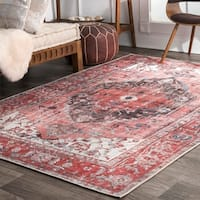 nuLOOM Transitional Lavish Ombre Duval Medieval Medallion Area Rug