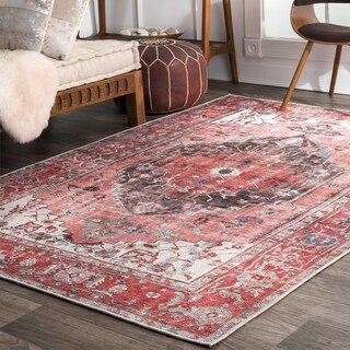 The Curated Nomad McLaren Transitional Lavish Ombre Medieval Medallion Area Rug