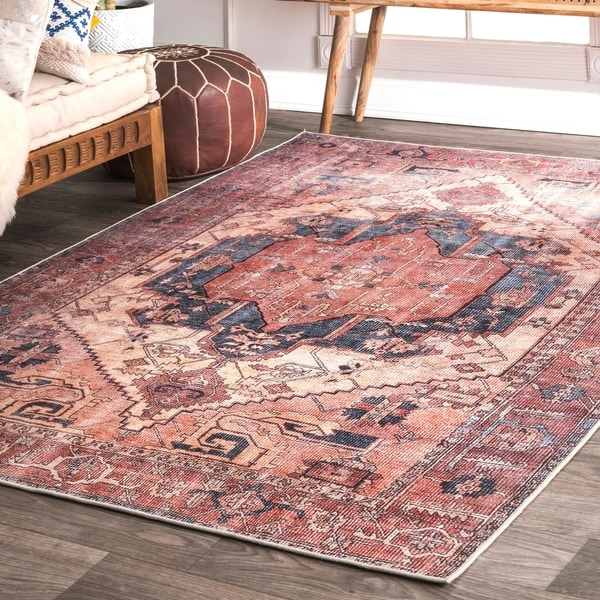 Nu Loom Transitional Faded Duval Medieval Medallion Area Rug by Nuloom
