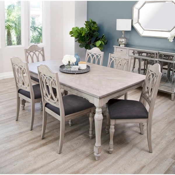 Abbyson Alfred 7 Piece Farmhouse Dining Set