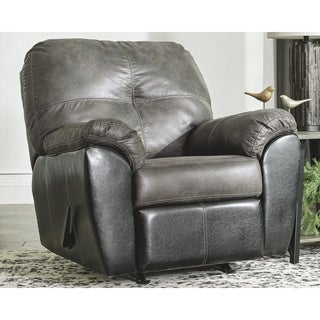Signature Design by Ashley Gregale Slate Faux Leather Rocker Recliner
