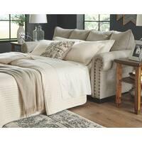 Signature Design by Ashley Zarina Sandstone Beige Jute Queen Sofa Sleeper