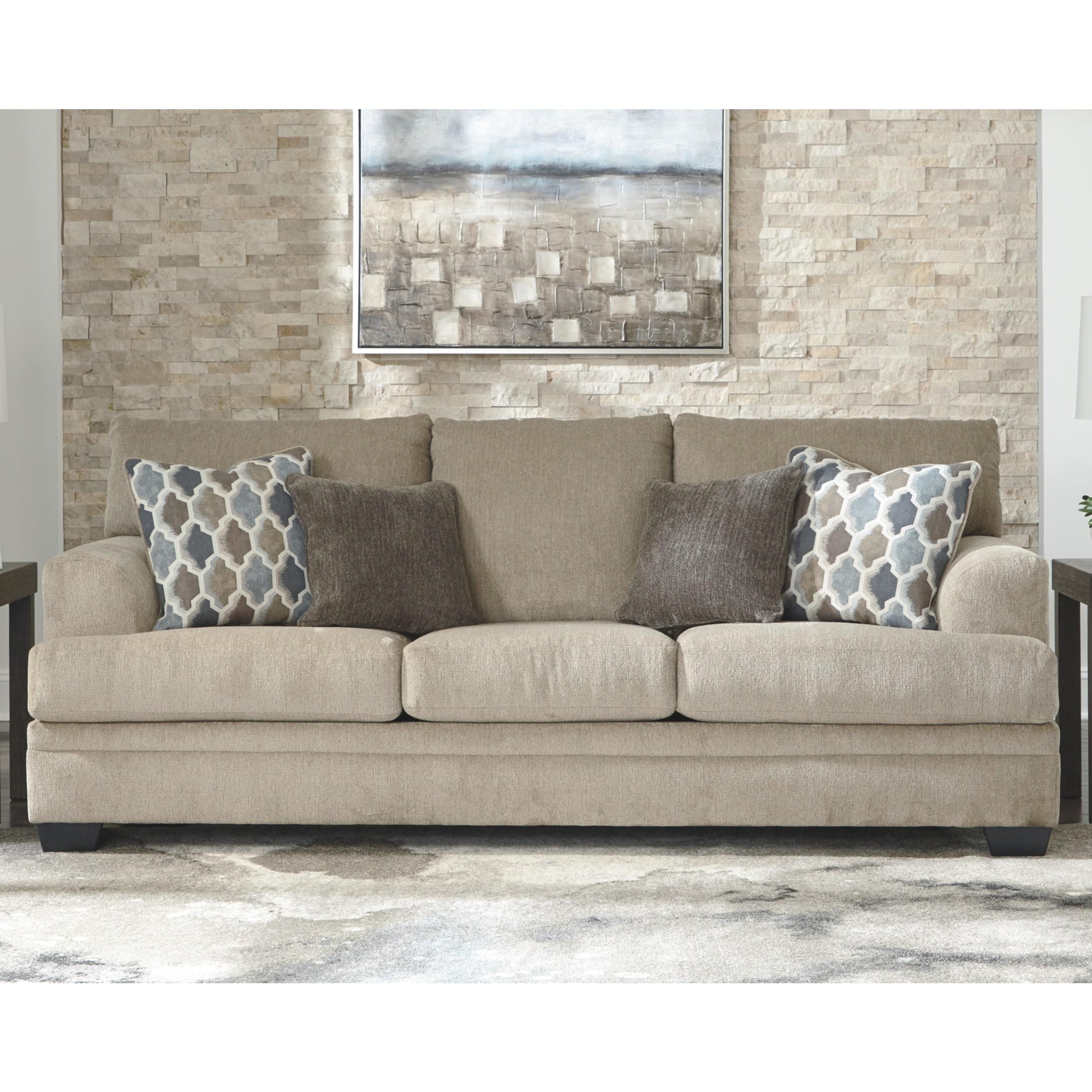 Sisal Sofa With 4 Throw Pillows