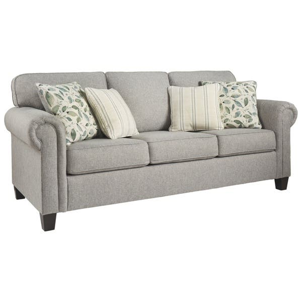 Marvelous Shop Signature Design By Ashley Alandari Grey Queen Sofa Ncnpc Chair Design For Home Ncnpcorg