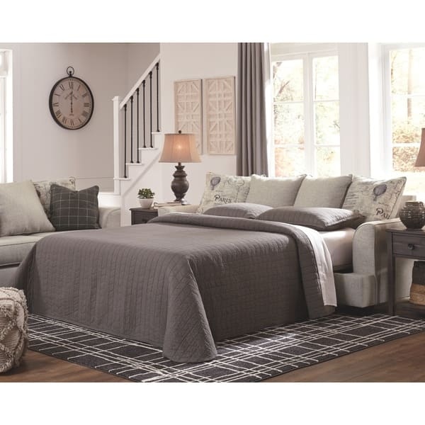Shop Velletri Queen Sofa Sleeper Pewter Free Shipping