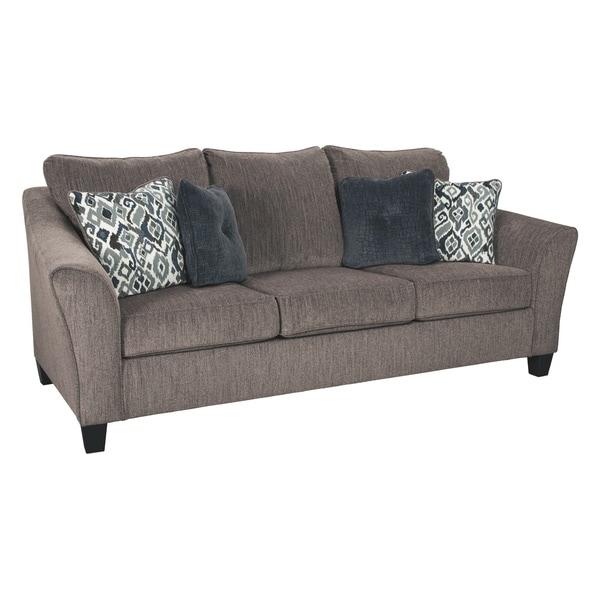 Signature Design By Ashley Nemoli Slate Microfiber Queen Sofa Sleeper