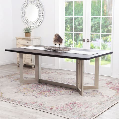 Strick & Bolton Cornelia 80-inch Wood Dining Table - Brown