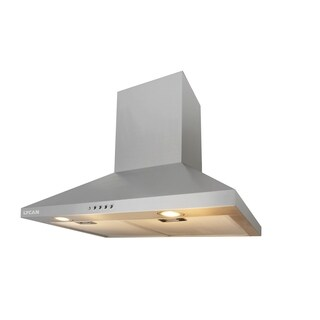 Lycan - 30in Wall Mount Chimney Range Hood in Stainless Steel with Push Button