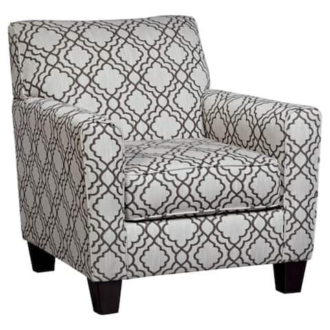 Farouh Accent Cream Printed Arm Chair