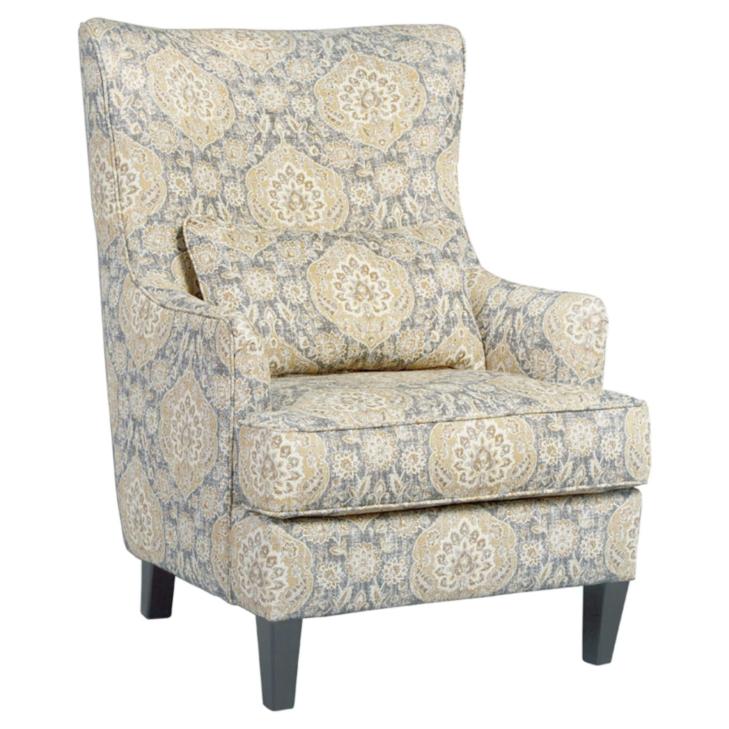 Aramore Cream Jacquard Design Arm Chair