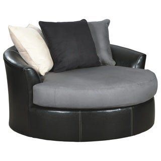 Signature Design by Ashley Jacurso Charcoal Oversized Chair