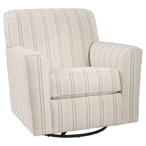 Alandari Grey Swivel Accent Chair
