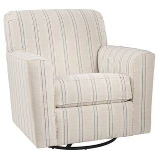 Alandari Grey Swivel Accent Chair