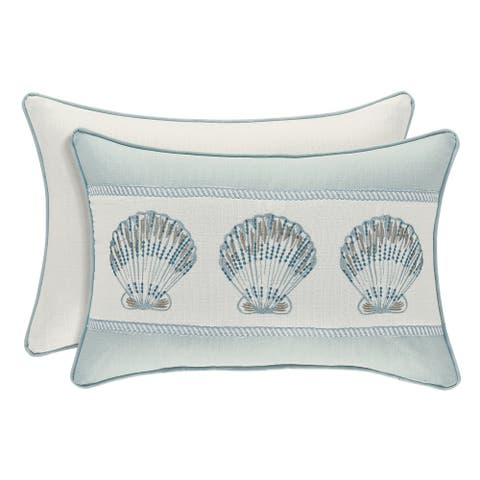 Royal Court Water's Edge Coastal Boudoir Pillow