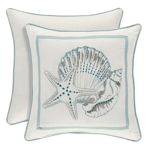 Royal Court Water's Edge Coastal Throw Pillow