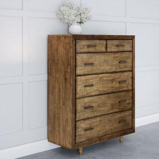 Abbyson Retro Mid Century 6-drawer Wood Chest