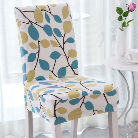 Elegant Polyester and Spandex Stretch Washable Dining Chair Slipcover