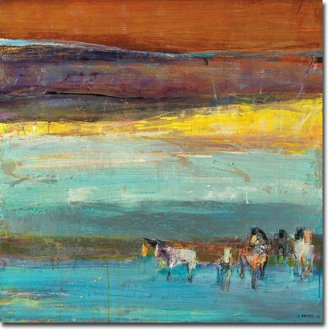 Clair de Lune (Moonlight) by Dominique Samyn Gallery Wrapped Canvas Giclee Art (30 in x 30 in, Ready to Hang)