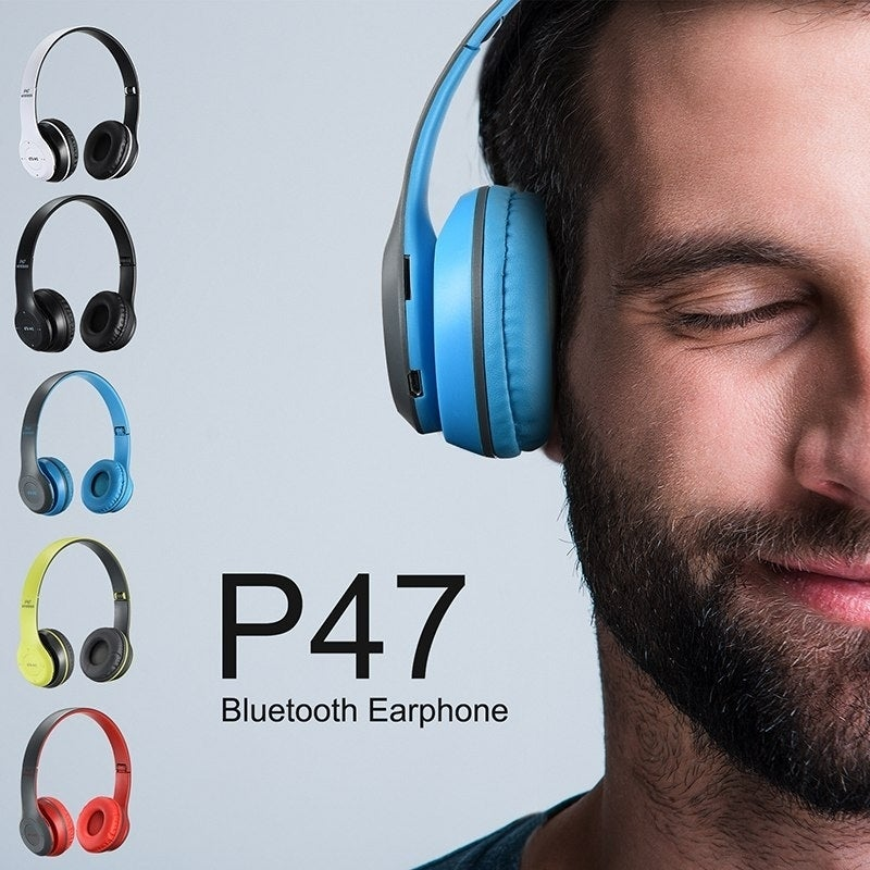Shop P47 Bluetooth 4 2 Headphones Stereo Headset Wireless Foldable Mic Earphone Overstock 26282719