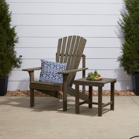 Renaissance Outdoor Patio Wood 2-Piece Conversation Set