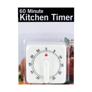 Bulk Buys 60 Minute Manual Dial Durable Plastic Kitchen Timer - 6 Pack