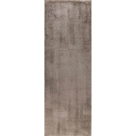 Alise Rugs Silken Shag Contemporary Solid Area Rug