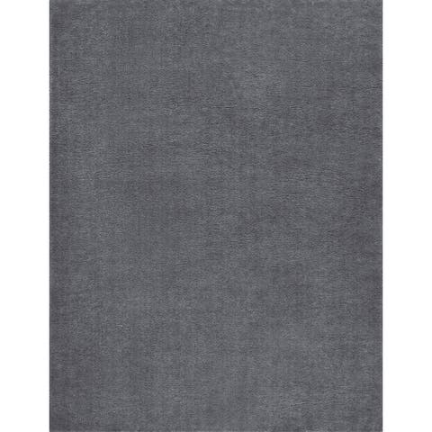Alise Rugs Silken Shag Contemporary Solid Area Rug