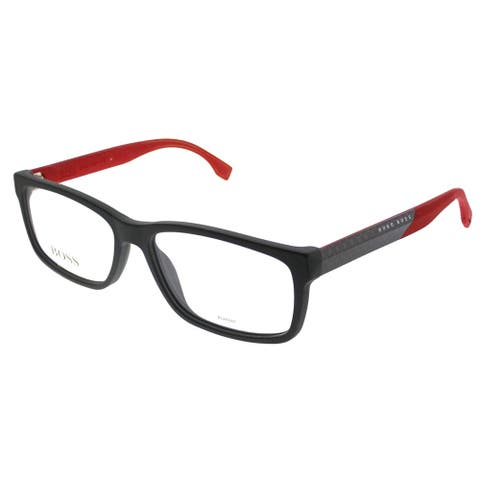 Hugo Boss Rectangle BOSS 0836 HWT Unisex Grey Red Frame Eyeglasses
