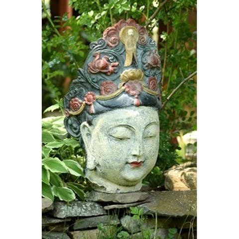 Porch & Den Hackney Large Lady Buddha Head Polyresin Statue