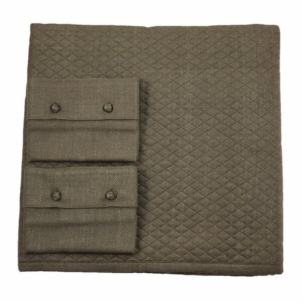 Basketweave Coverlet Set