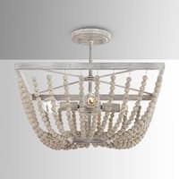 The Curated Nomad Ritch 4-light Sand Brown Semi-flush Mount