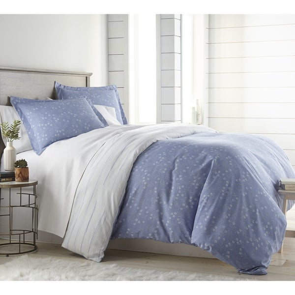 Blossom Reversible Duvet Cover and Sham Set