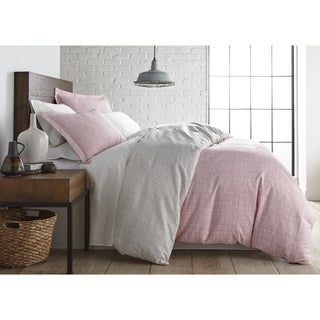 Muted Mesh Reversible Duvet Cover and Sham Set