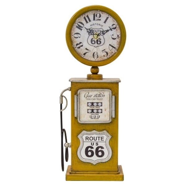 Yosemite Home Decor Ole Gas Pump Table Top Clock - 3 x 5.1 x 13.8