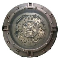 Yosemite Home Decor Urban Loft Gears Aged Copper/Brass Finish Metal Wall Clock
