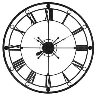 Yosemite Home Decor Black Metal 39.4-inches Diameter Tower Wall Clock