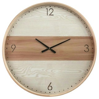 Yosemite Home Decor Contemporary Chic III Wood Wall Clock
