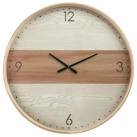 Yosemite Home Decor Contemporary Chic III Wood Wall Clock
