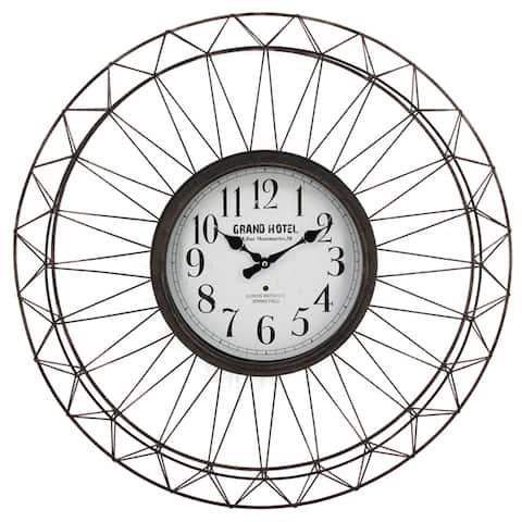 Yosemite Home Decor Grand Hotel Metal Ornament Wall Clock - 2.8 x 27 x 27