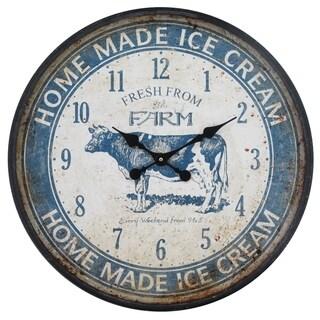 Yosemite Home Decor Ice Cream Blue Wall Clock - 3 x 23.6 x 23.6