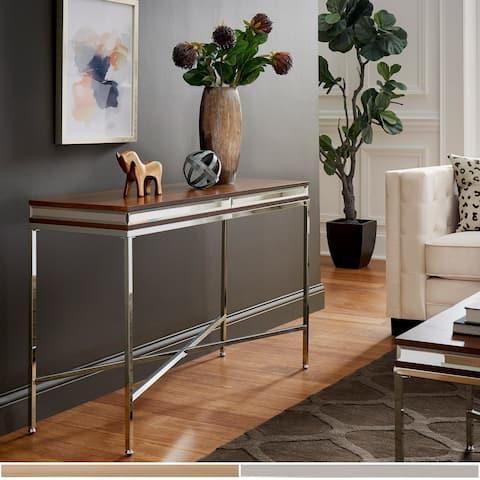 Silver Orchid Bellamy Mirror Trim Sofa Table