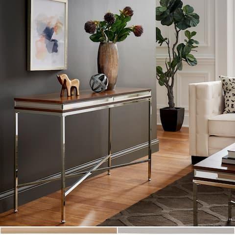 Silver Orchid Barclay Mirror Trim Sofa Table