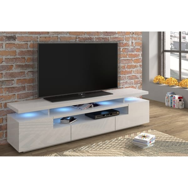 Strick Bolton Sparkes 79 Inch High Gloss Tv Stand