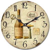 Yosemite Home Decor Chateau Winery Clock - 1.4  x 13.31  x 13.31