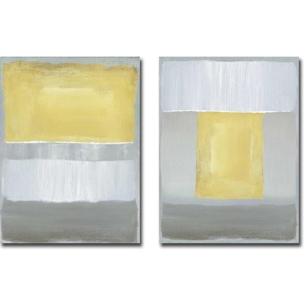 Half Light I & II by Caroline Gold 2-piece Gallery Wrapped Canvas Giclee Art Set (Ready to Hang)