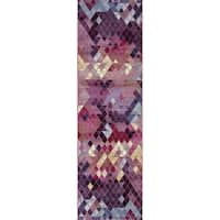 """Mod-Arte, Rhapsody Collection Transitional Style Runner Rug - 2'4"""" x 7'10"""""""