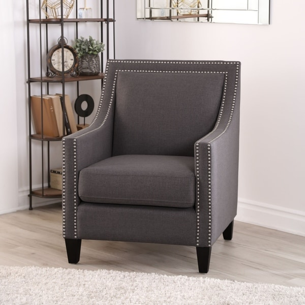 Shop Abbyson Adrienne Nailhead Accent Chair On Sale