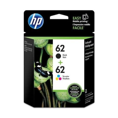 HP 62/62 Black,Tri-Color Ink Cartridges,N9H64FN, Multi-pack